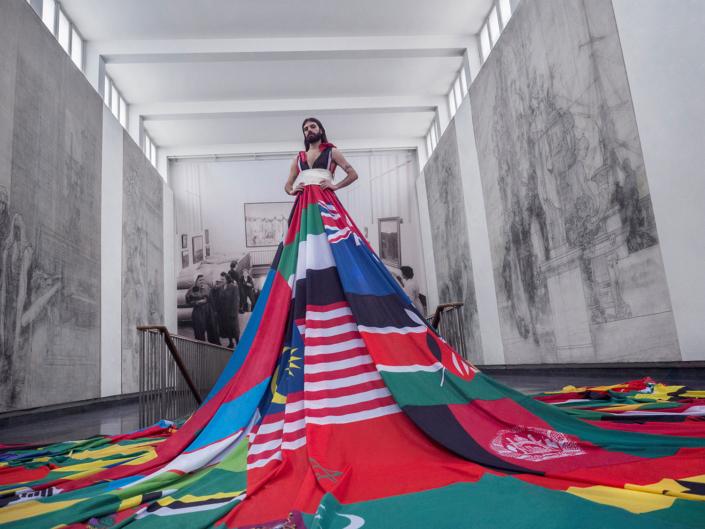 Amsterdam Rainbow Dress in Malmö Castle